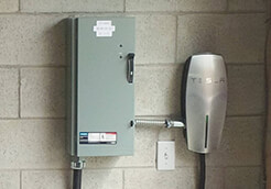 tesla charger installed by ElectricMD - Electricians in Barrie, Newmarket, North York & York Region