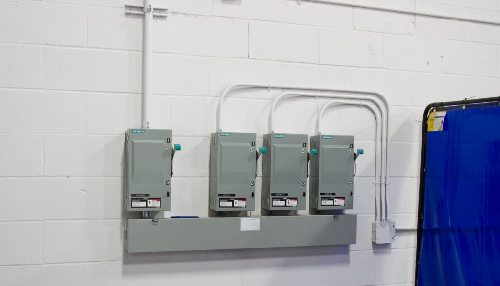 Siemens disconnects installed by ElectricMD - Electricians in Barrie, Newmarket, North York & York Region