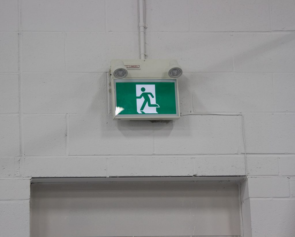 emergency exit lighting installed by ElectricMD - Electricians in Barrie, Newmarket, North York & York Region