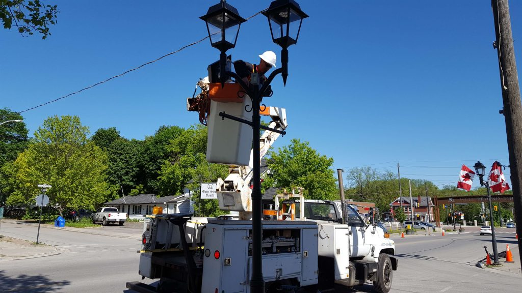 bucket truck service by ElectricMD - Electricians in Barrie, Newmarket, North York & York Region